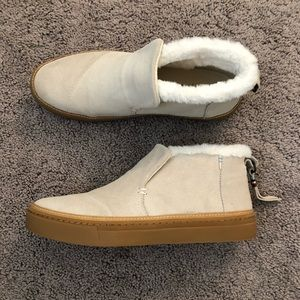 Like New Toms Birch Suede Women's Paxton Slip-ons